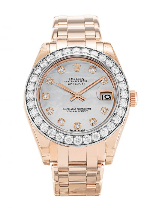 Rolex Pearlmaster 81285 fake diamond watches
