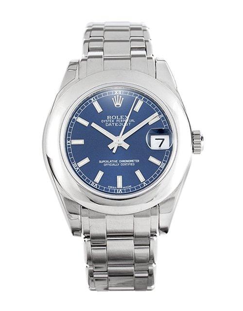 Rolex Datejust Special Edition 81209 Blue Baton