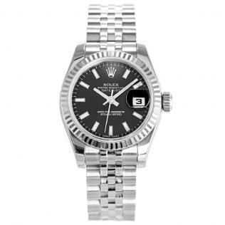 Rolex Datejust Black Ladies 179174