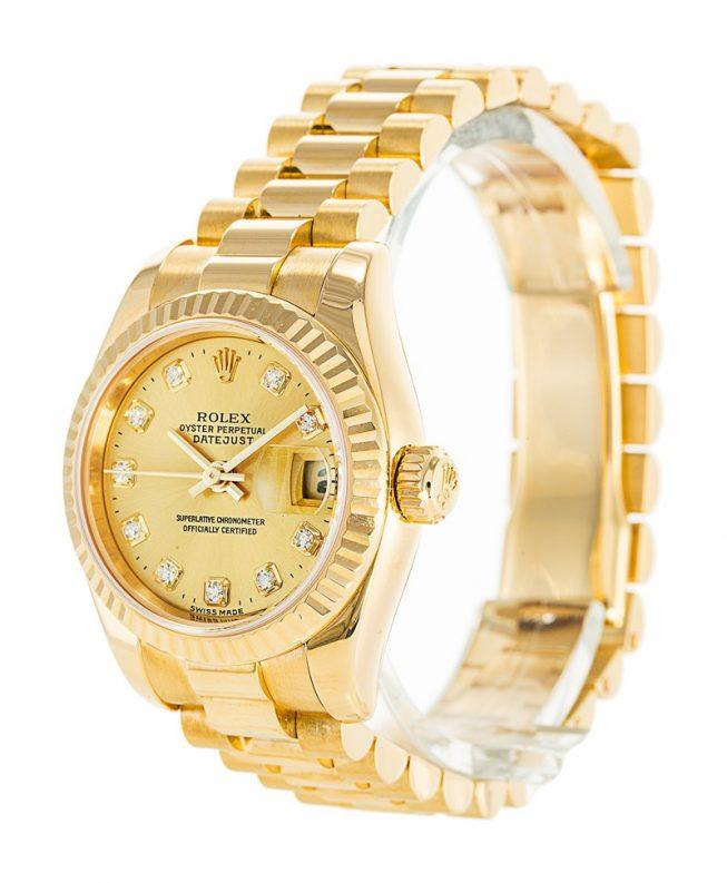 Rolex Datejust Gold Ladies 179178