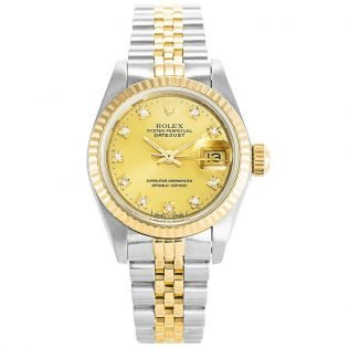 Rolex Datejust Gold and Diamonds Ladies 69173