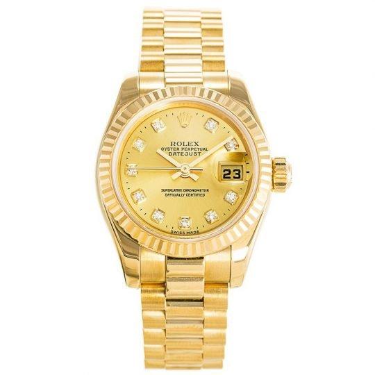 fake gold rolex Datejust Gold Ladies 179178