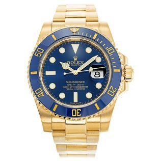 Rolex Submariner Blue Dial Gold 116618LB