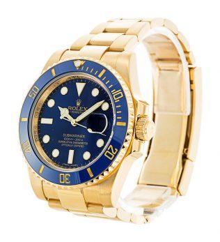 Rolex Submariner Blue Dial Gold 116618LB