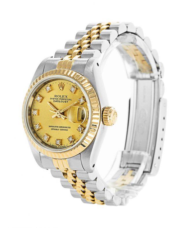 Rolex Datejust Gold and Diamonds Ladies 69173