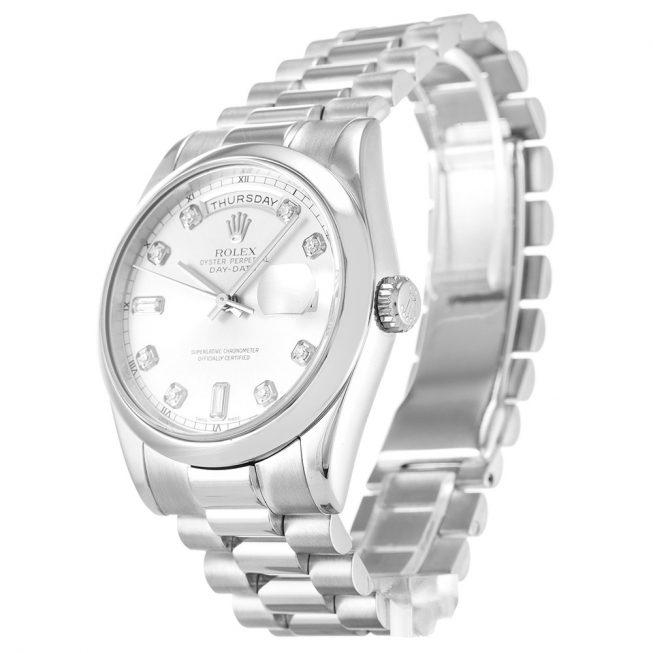 Rolex Day-Date Silver 118209