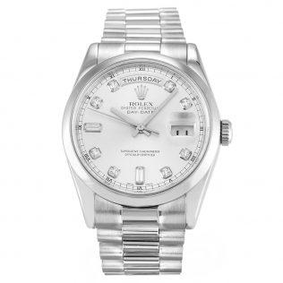 Rolex Day-Date II Silver 218239