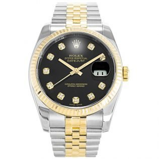 Rolex Datejust Two Tone Black