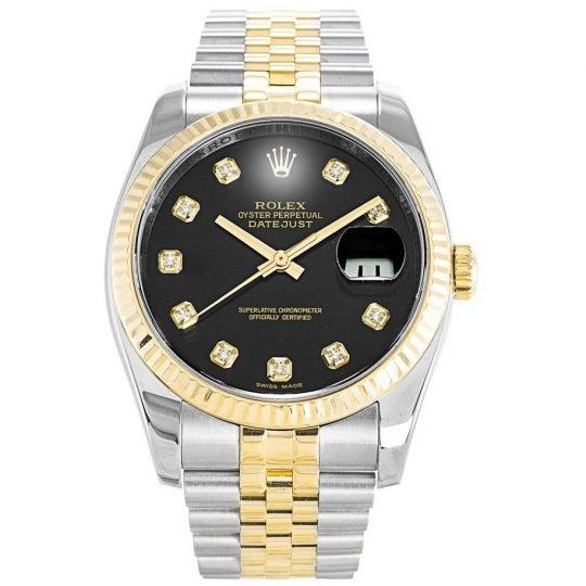 Rolex Datejust Two Tone Black