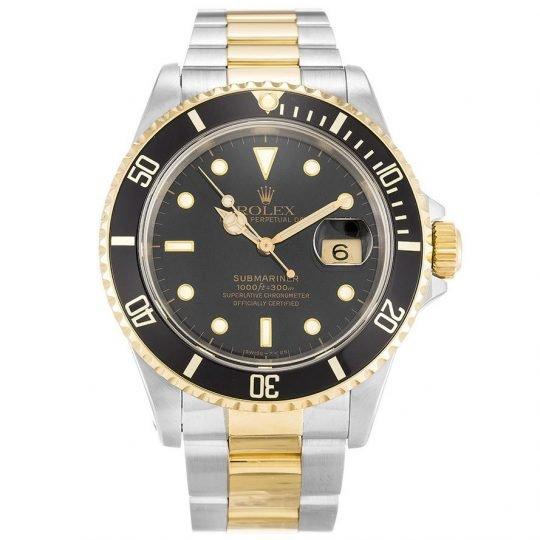 Rolex Fake Submariner Black Dial 16613