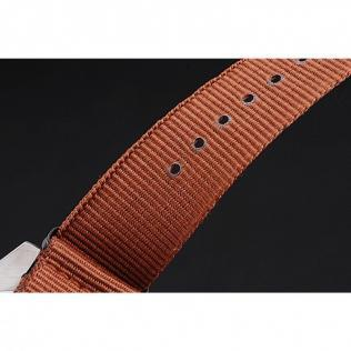 Ion-plated brushed stainless steel cutwork bezel with minute markers