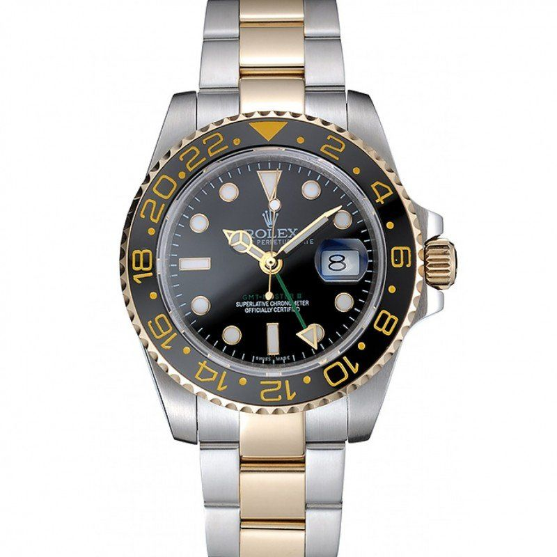 Rolex GMT Master II Gold Colored Ceramic Bezel Brown Dial Watch replica watches