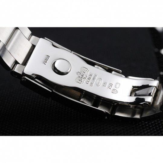 Diamond encrusted polished stainless steel bezel