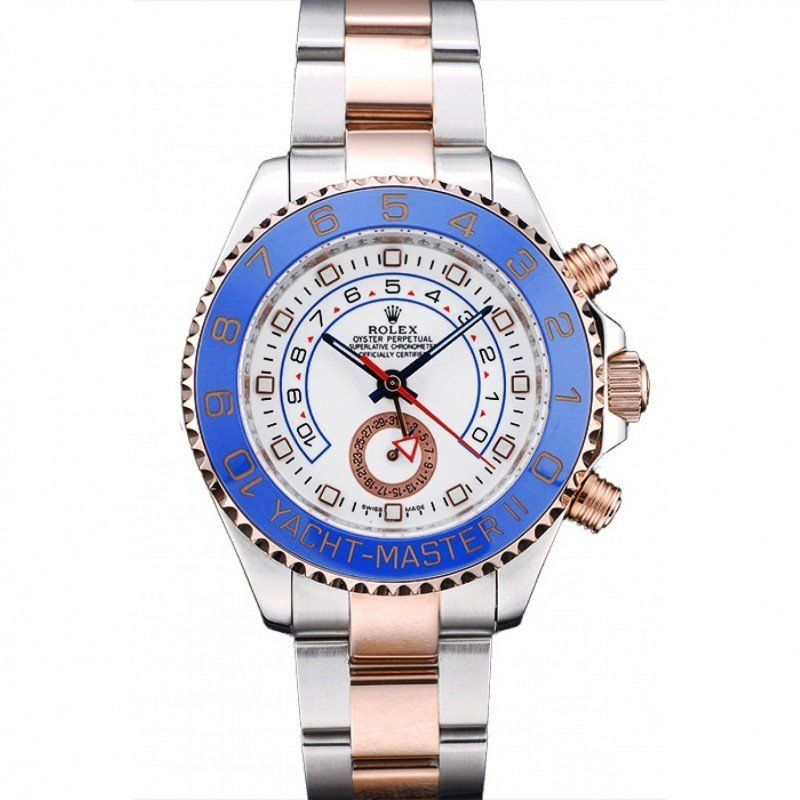 Men Rolex Yacht Master Black Dial Rose Gold Case Brown Leather Bracelet 1453861 replica watches