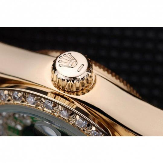 18k yellow gold plated stainless steel crystal-studded bezel