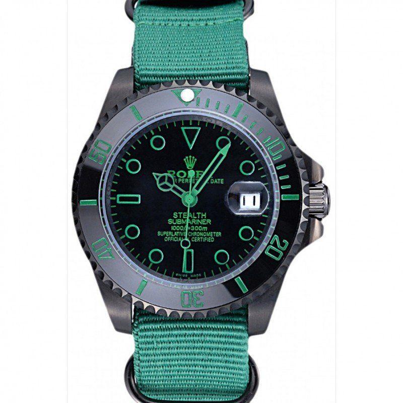 Men Rolex Stealth Submariner Blue 621994 replica watches