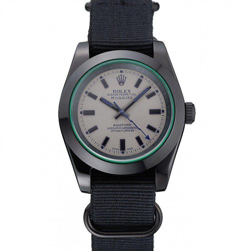 🇨🇭Rolex Milgauss Black Dial Orange Markings Stainless Steel Case And Bracelet replica watches