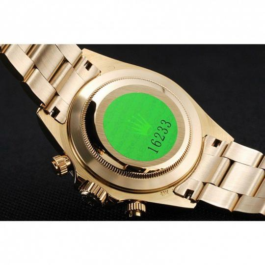 18k yellow gold plated bezel with tachymeter
